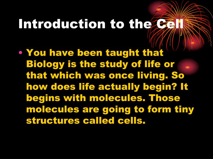 Introduction to the Cell