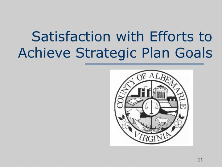 Satisfaction with Efforts to Achieve Strategic Plan Goals