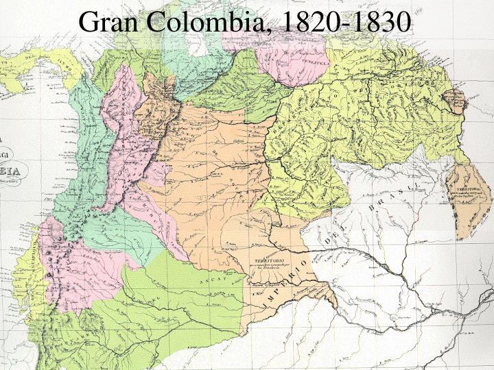 Gran Colombia, 1820-1830