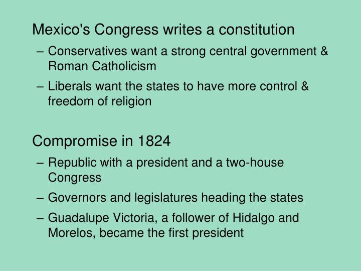 Mexico's Congress writes a constitution