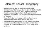 albrecht kossel biography
