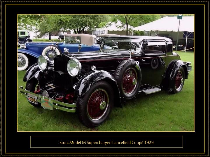 Stutz Model M Supercharged Lancefield Coupé 1929