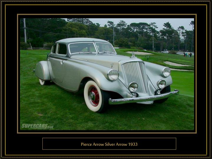 Pierce Arrow Silver Arrow 1933