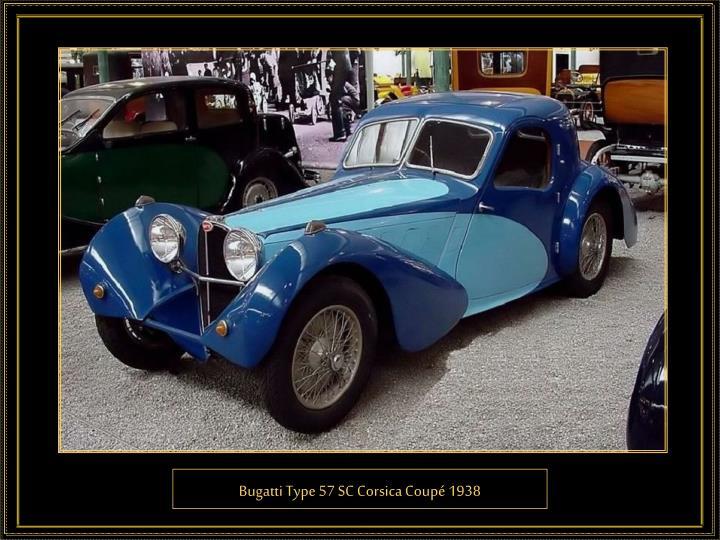Bugatti Type 57 SC Corsica Coupé 1938