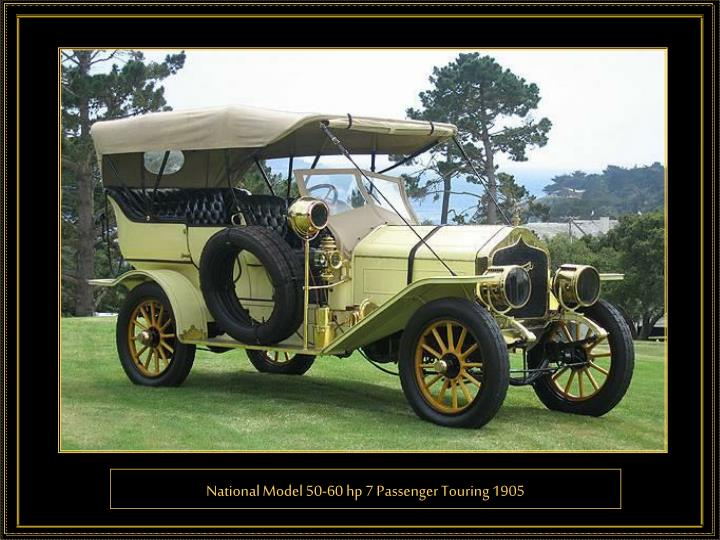 National Model 50-60 hp 7 Passenger Touring 1905