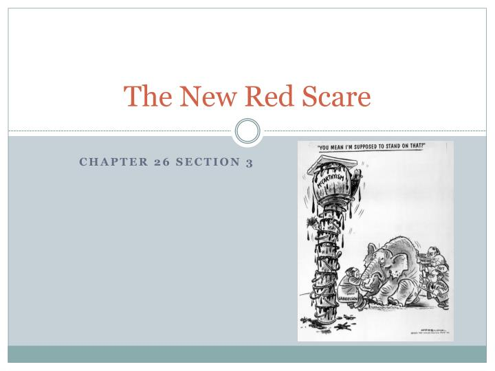 The New Red Scare
