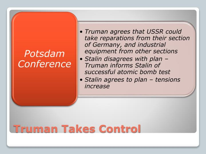 Truman Takes Control