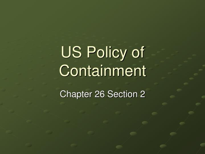 US Policy of Containment