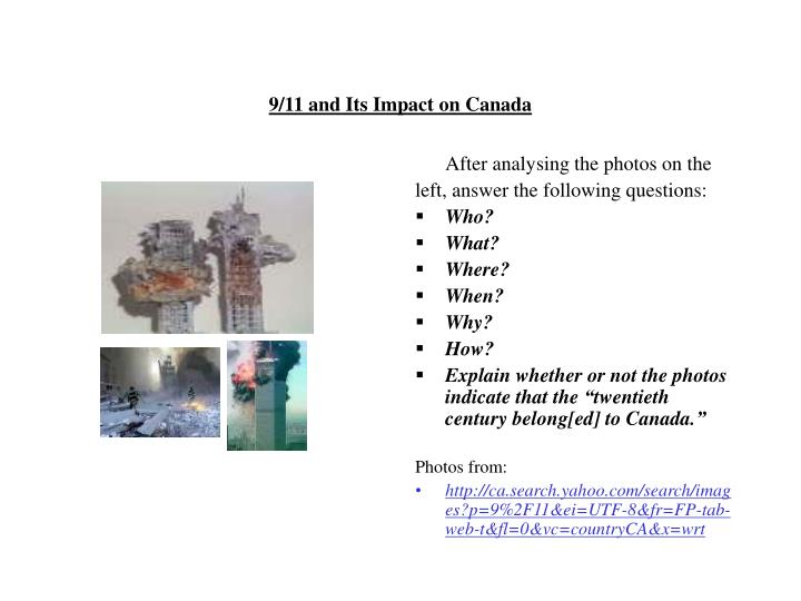 9/11 and Its Impact on Canada