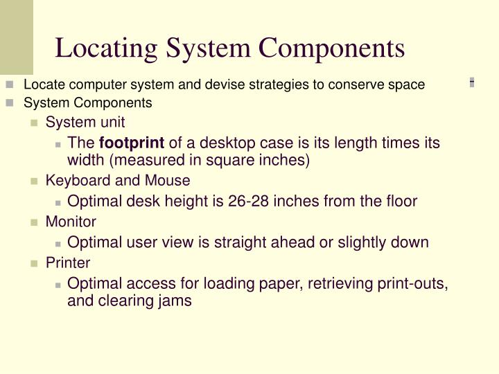 Locating System Components