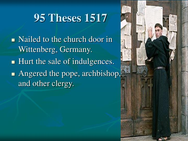 95 theses 1517