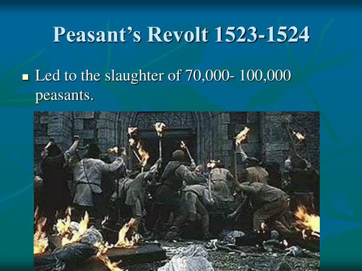 Peasant's Revolt 1523-1524