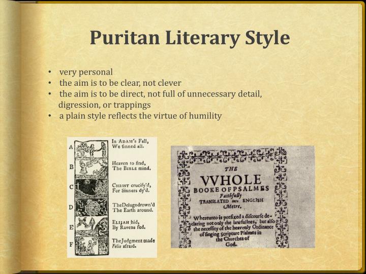 Puritan Literary Style