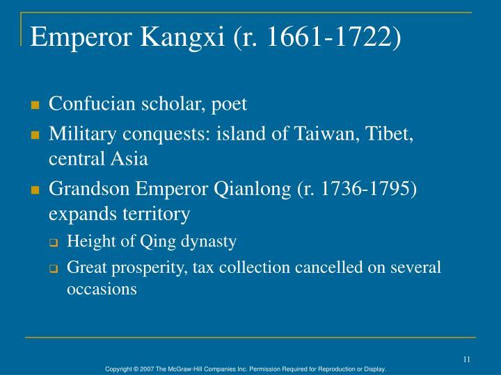 Emperor Kangxi (r. 1661-1722)