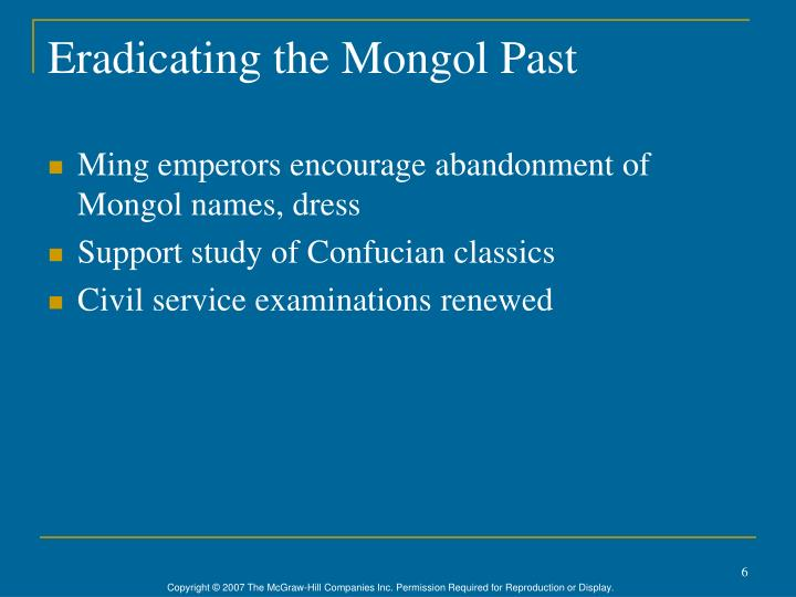 Eradicating the Mongol Past