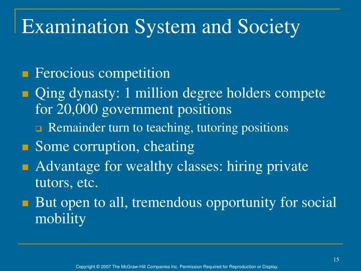 Examination System and Society