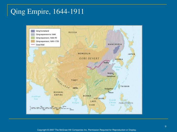 Qing Empire, 1644-1911