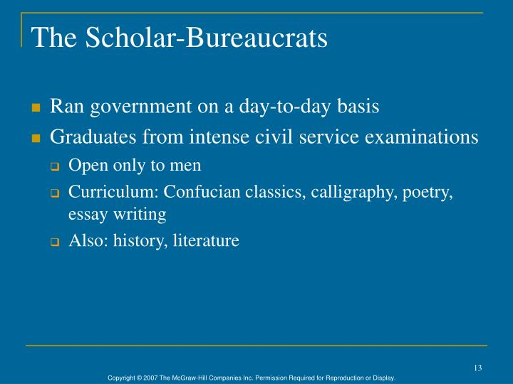 The Scholar-Bureaucrats