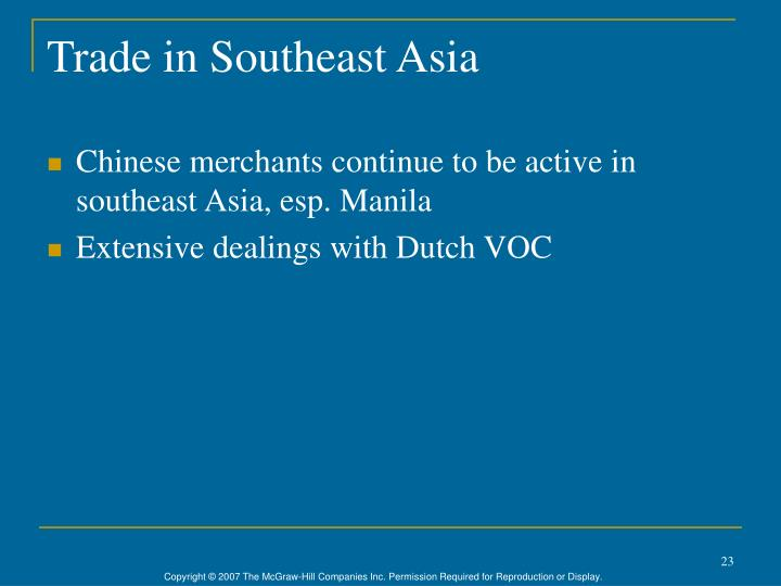Trade in Southeast Asia