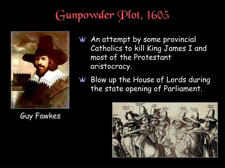 Gunpowder Plot, 1605