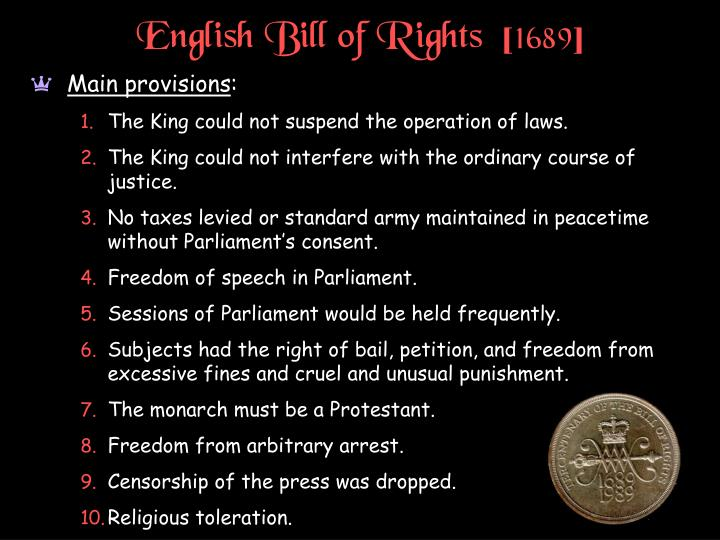 English Bill of Rights  [