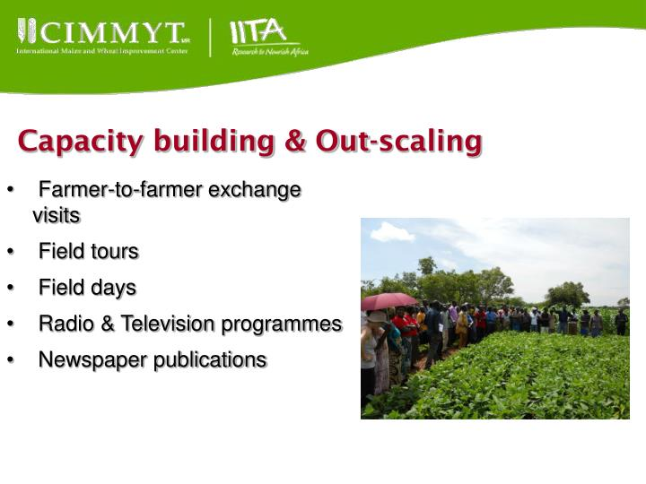 Capacity building & Out-scaling