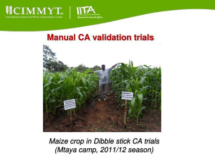 Manual CA validation trials