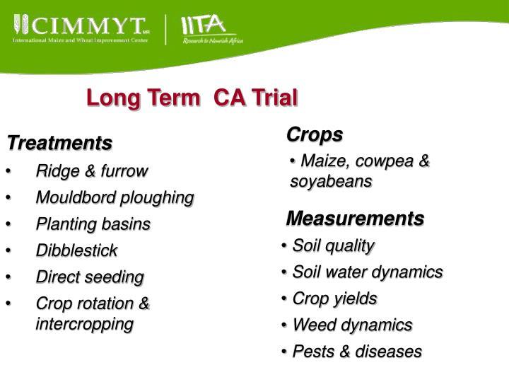 Long Term  CA Trial