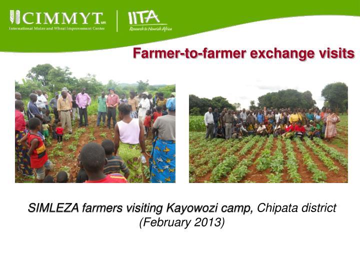 Farmer-to-farmer exchange visits