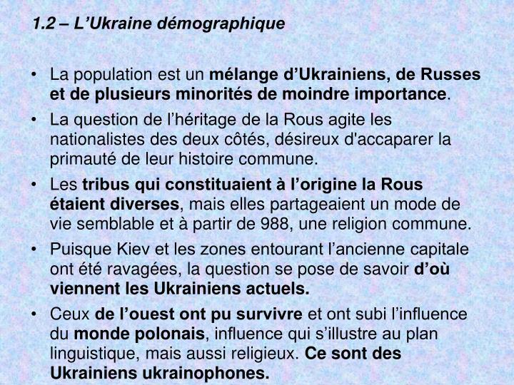 1.2 – L'Ukraine démographique