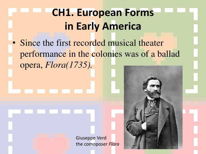 CH1. European Forms