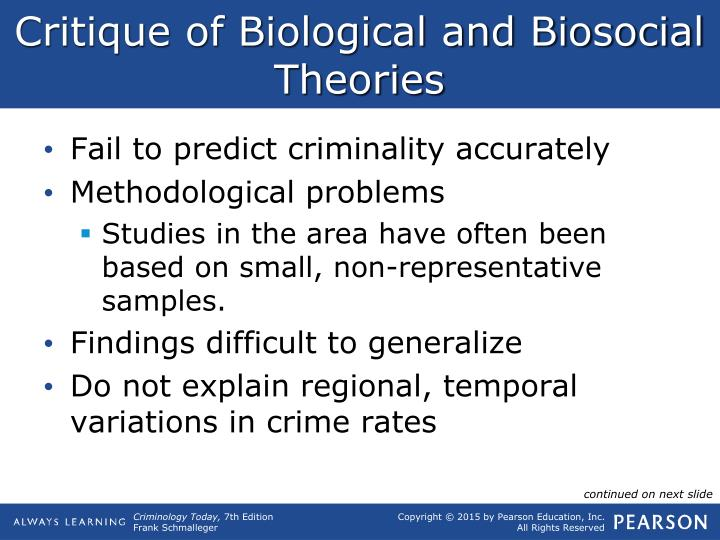 Critique of Biological and Biosocial Theories