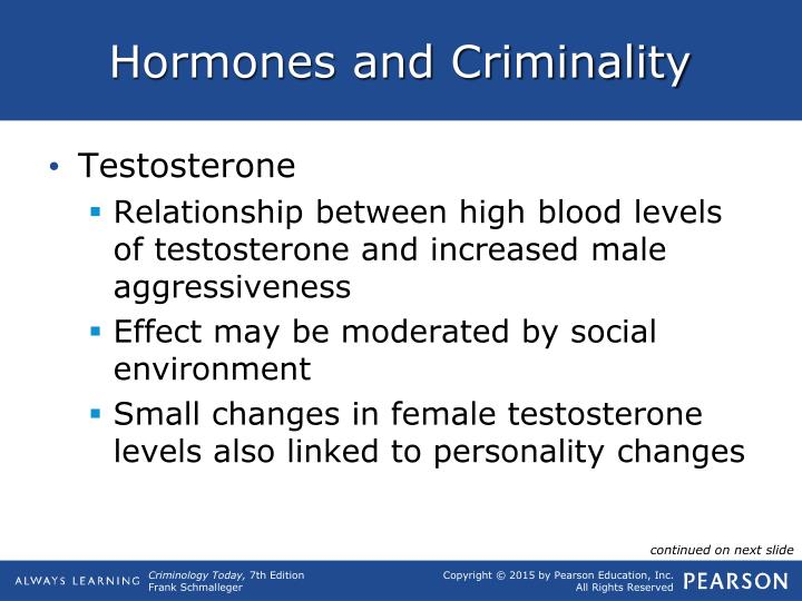 Hormones and Criminality