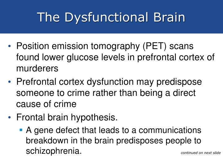 The Dysfunctional Brain