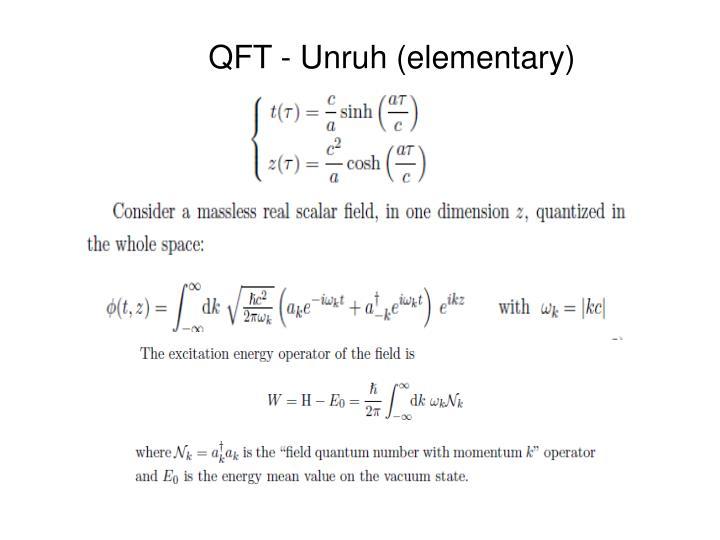 QFT - Unruh (elementary)