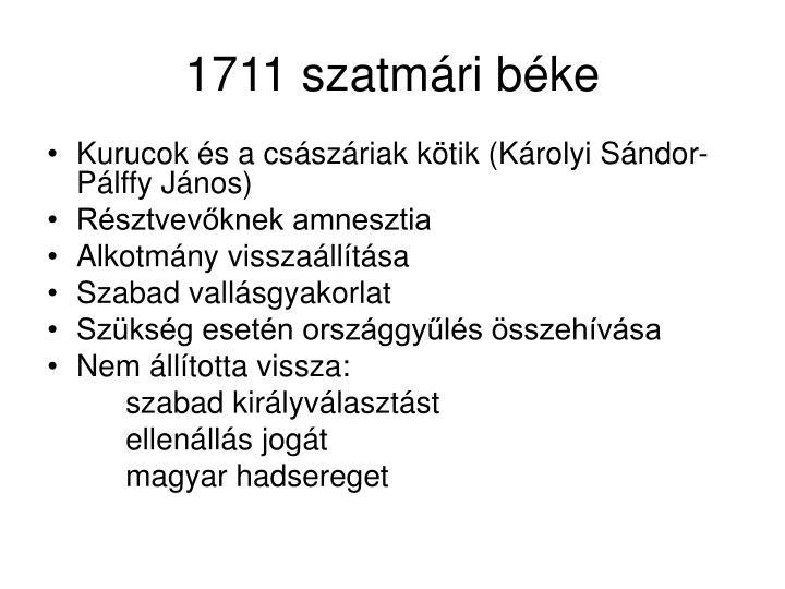 1711 szatmári béke