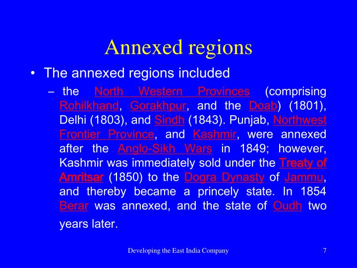 Annexed regions
