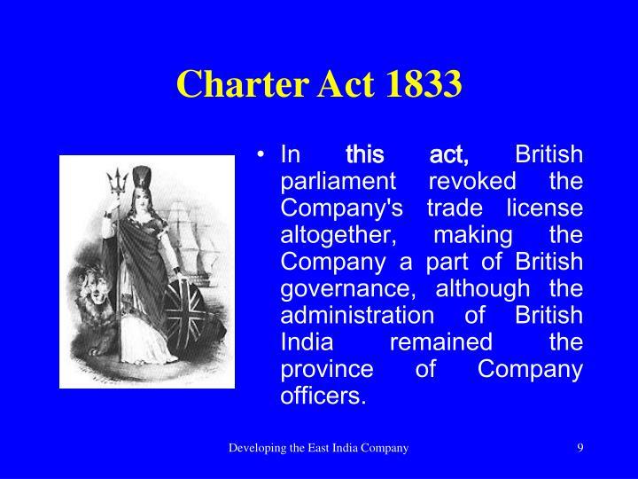 Charter Act 1833
