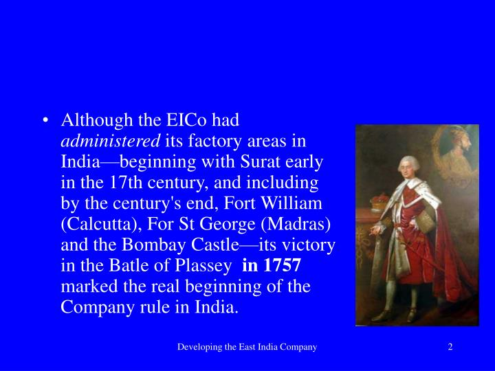 Although the EICo had