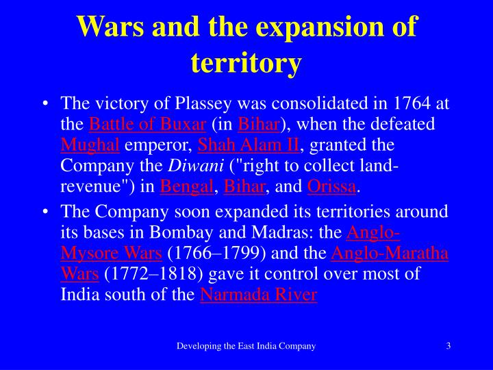 Wars and the expansion of territory