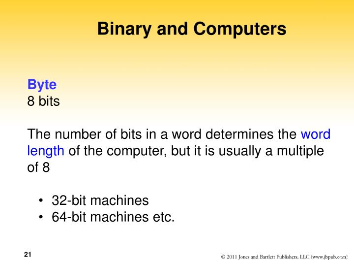 Binary and Computers