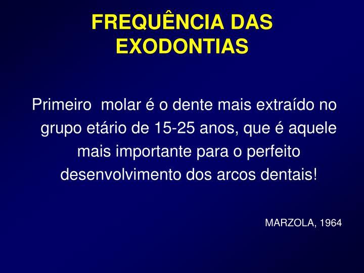 FREQUÊNCIA DAS EXODONTIAS