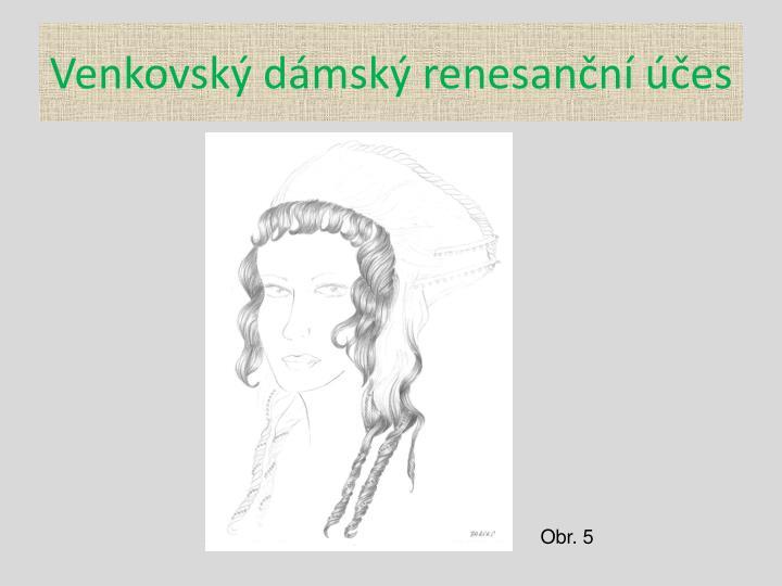 Venkovský dámský renesanční účes