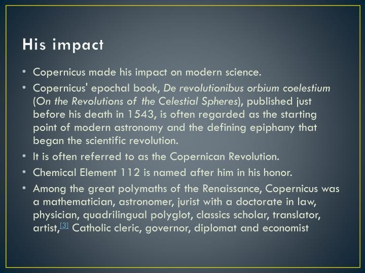 His impact