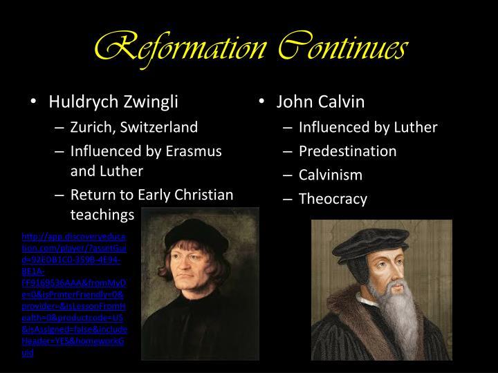 Reformation Continues
