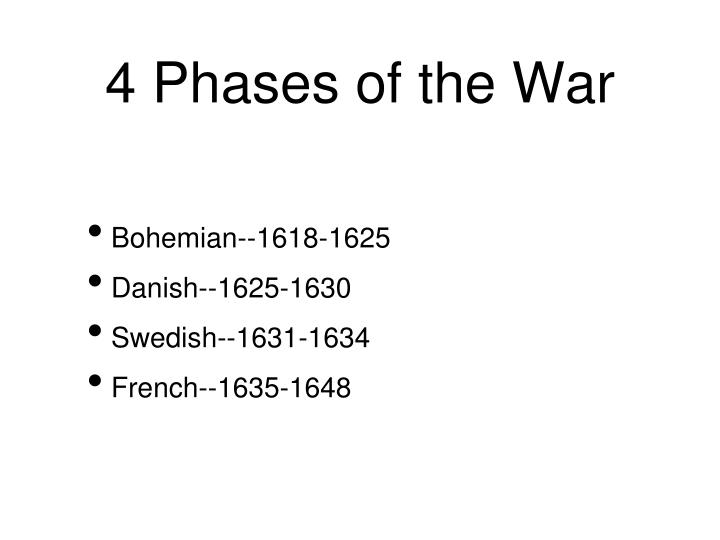 4 Phases of the War