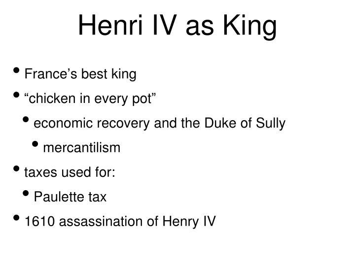 Henri IV as King