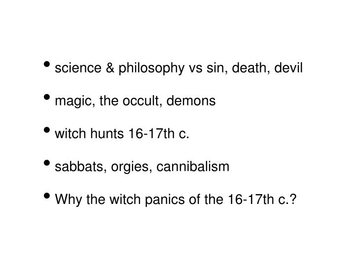 science & philosophy vs sin, death, devil
