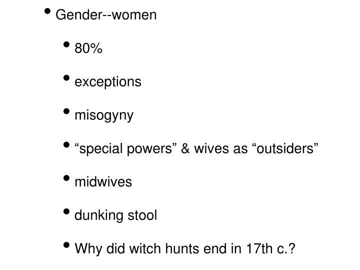 Gender--women