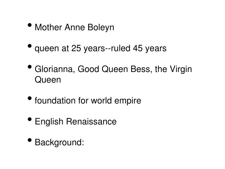 Mother Anne Boleyn